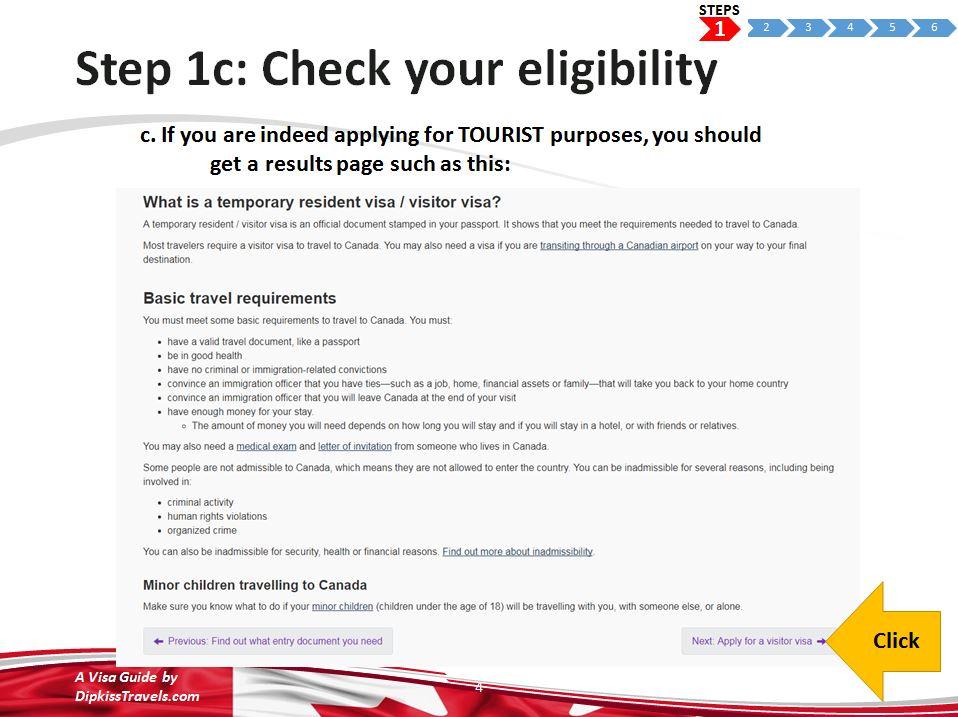 canada tourist visa application guide